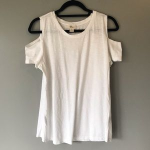 White Cold shoulder top size small